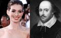 Anne Hathaway ha vuelto a ser tendencia en las redes luego de descubrir una insólita coincidencia con el famoso escritor William Shakespeare