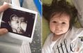 Bebe nace con larga cabellera