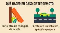 ¿Qué debes y no debes hacer en caso de un terremoto?