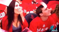 ¡La peor vergüenza en público! Una kiss cam los captó sin imaginar el penoso resultado