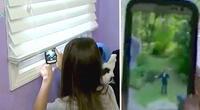 Ella tomó fotos a un extraño mientras estaba sola en casa, el vídeo la salvó