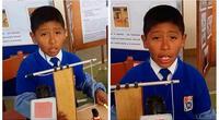 Niño cusqueño tiene un ingenioso invento para salvar vidas en un sismo