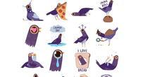 Facebook: ¿Por qué el sticker de un ave morada agitando su cabeza se volvió viral?
