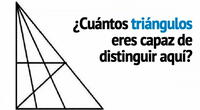 ¿Cuántos triángulos logras contar? El acertijo matemático que pocos resuelven