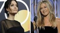 Angelina demostró que no estaba nada contenta frente a Jennifer.