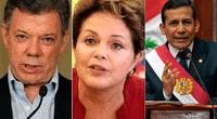 Presidentes de México, Chile y Perú