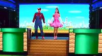 Baile de los personajes de Super Mario Bross.