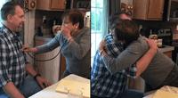 La mujer no logró controlar sus emociones y se quebró al escuchar el corazón de su hijo