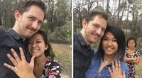 Se tomó una selfie con una desconocida, su pareja estaba atrás, la razón es viral