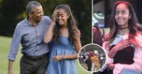 La hija del expresidente fue vista con su novio en la universidad de Harvard.