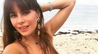 La bella mujer colombiana aún mantiene un cuerpo de infarto.