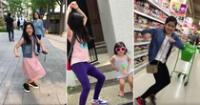 La niña aprovecha cualquier momento para bailar y cantar la pegajosa canción.