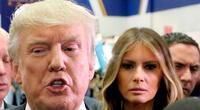 En redes sociales están criticando la fría y breve forma en la que Trump saludó a su esposa