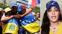 La joven no dudó en alzar su voz de protesta ante las constantes agresiones contra sus compatriotas.