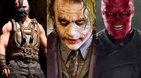 Bane, Joker y Red Skull.