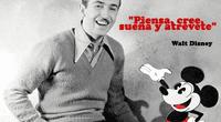 Walt Disney y su creación el ratón Mickey.