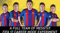 ¿Qué pasa si juegas con 11 futbolistas con las características de Lionel Messi?