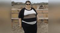Amanda Wood llegó a pesar 170 kilos