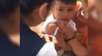 Reacción del pequeño se convirtió en viral.