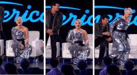 La cantante se empezó a reír tan fuerte que sus pantalones se rompieron