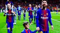 Cracks del Barcelona demostraron el amor por sus hijos.
