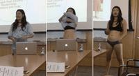 Letitia Chai se quitó la ropa para protestar contra las críticas a su vestimenta