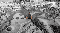 Su obra se expone en una localidad de São Paulo.