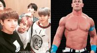 El luchador publica fotos de BTS en su instagram.