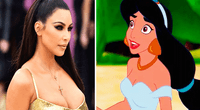 Kim Kardashian se transformó en la princesa Jasmine y sorprendió a más de uno