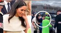 Meghan Markle subió al auto antes que la reina Isabel y alarmó a la prensa.
