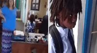 """Llegó feliz a su 1er día de colegio, pero su cabello rasta violaba las """"reglas""""."""