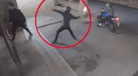 Ladrón noqueó de casualidad a su cómplice y se fuga del lugar.