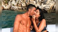 Cristiano y Georgina presumen su amor, pero su novia lo opacó con diminuta tanga.