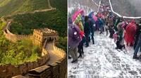 Visitar la Muralla China en Invierno no es una buena idea y esta es la prueba.