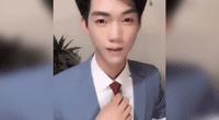 """Asiático se quita el maquillaje y sorprende con su rostro """"al natural""""."""