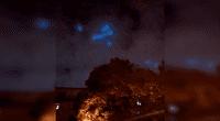 Internautas creen que las extrañas luces aparecidas en el cielo de Moscú se tratan de ovnis