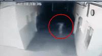 La cámara de seguridad captó al fantasma.