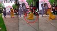 Niño disfrazado de pato se robó el show.