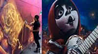 Artistas sorprendieron a miles al decorar un cementerio con gigantes murales de la película Coco
