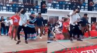 Escenario se desplomó mientras alumnos realizaban un baile.