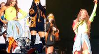"""Thalía y Natti Natasha sufrieron fallas de sonido en pleno show, mientras cantaban su famoso tema """"No me acuerdo"""""""