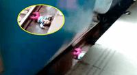 Bebé sale ilesa luego de que un tren pasara por encima suyo.