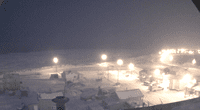 """Utqiaġvik experimenta el extraño fenómeno de la """"noche polar"""", un período de oscuridad en el invierno, sin amaneceres."""