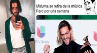 Maluma anunció que se retiraba temporalmente de los escenarios y los usuarios reaccionaron con divertidos memes.