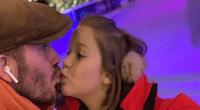 David Beckham dio beso en la boca a su hija y fans recrean escena.