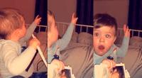 Mamá grabó el preciso momento en que un bebé parece comunicarse con su papá fallecido al identificarlo en una foto