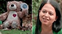 """""""Amigo secreto"""" le regala un oso de peluche y descubre restos humanos en su interior."""
