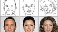 Crean inteligencia artificial que hace retratos fotorrealistas con dibujos mal hechos.
