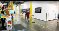Amazon usa cámara con inteligencia artificial que avisa cuando trabajadores no cumplen con distanciamiento social.