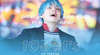 Taehyung de BTS rompe récords en iTunes con